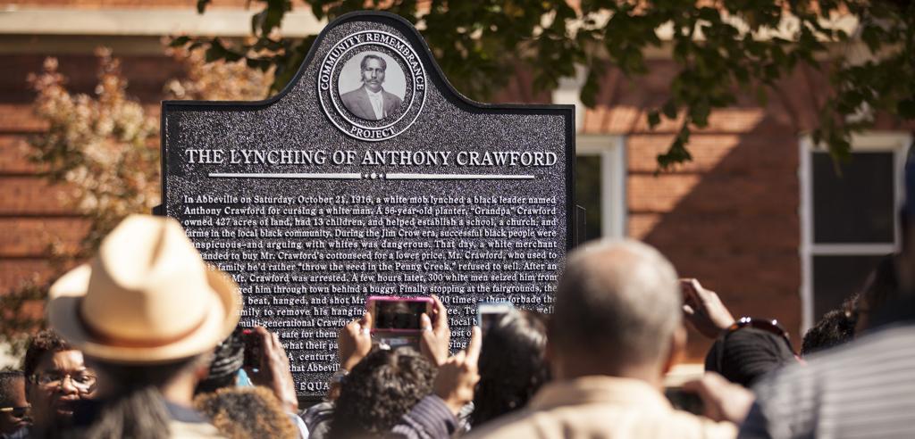 Hundreds Dedicate Lynching Marker in Abbeville, South Carolina