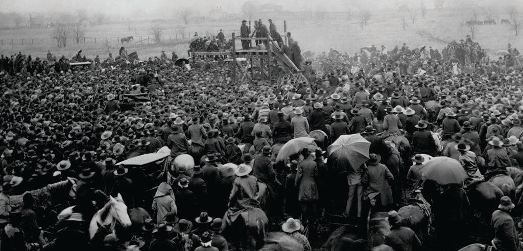 Ten thousand people gathered to watch lynching of Henry Smith in Paris, Texas, on February 1, 1893