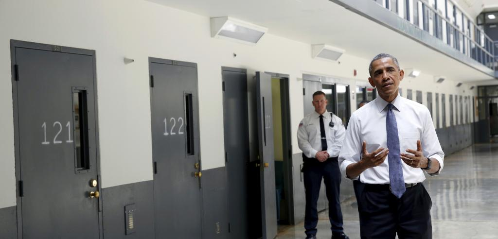 President Obama visits a federal prison