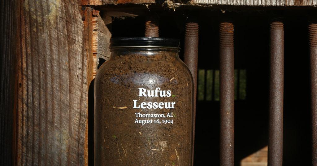 Rufus Lesseur soil collection jar