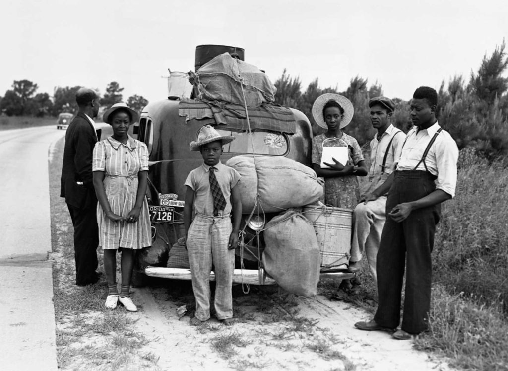 Black workers leave Florida for New Jersey in July 1940